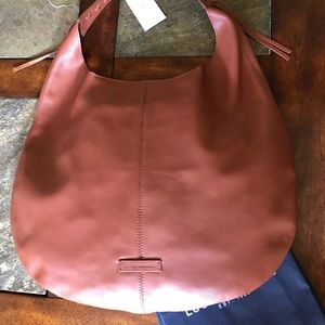 Lucky brand cognac leather hobo bag NWT